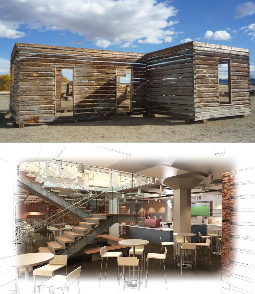 Here are a few renderings of Twitter's log cabin additions to its San Francisco HQ.