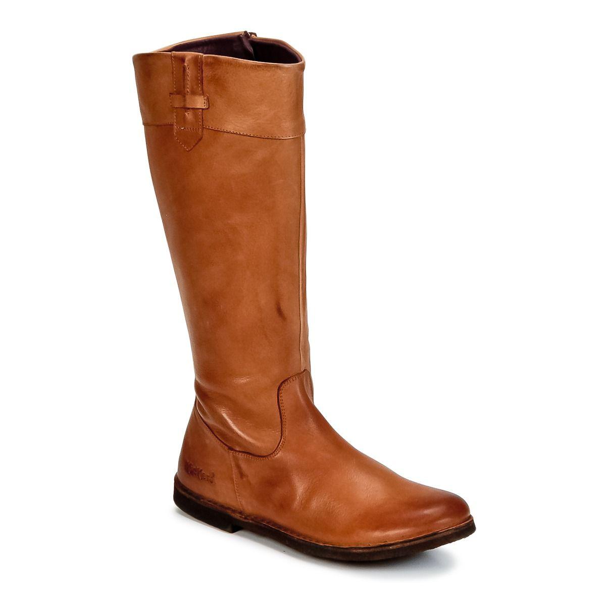 bottes de ville kickers cresus camel prix promo bottes femme