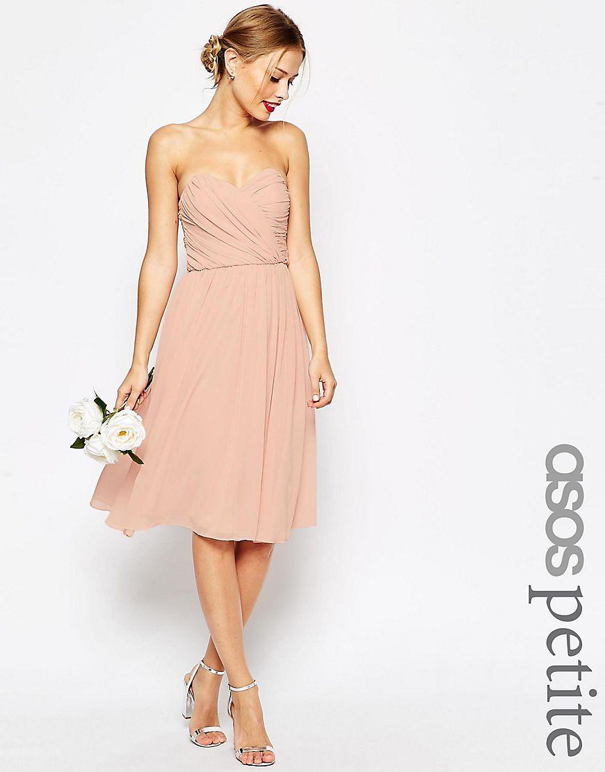 ASOS PETITE - WEDDING - Mittellanges Baneau-Kleid ...