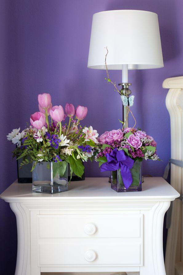 Brooke's Purple and Gray Nursery   Grey nursery, Nursery ...