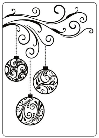 pinspiration ornament card  easy christmas drawings