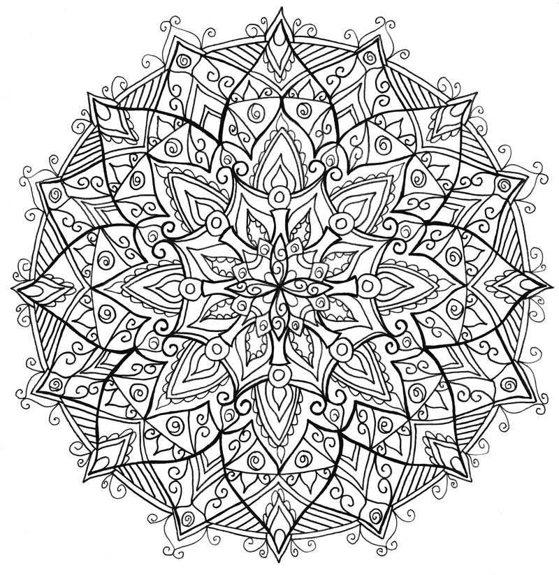 Download The Full Size File From Right To Print And Colour Check Out My Geometric MandalaBooks For SaleAdult ColoringColoring