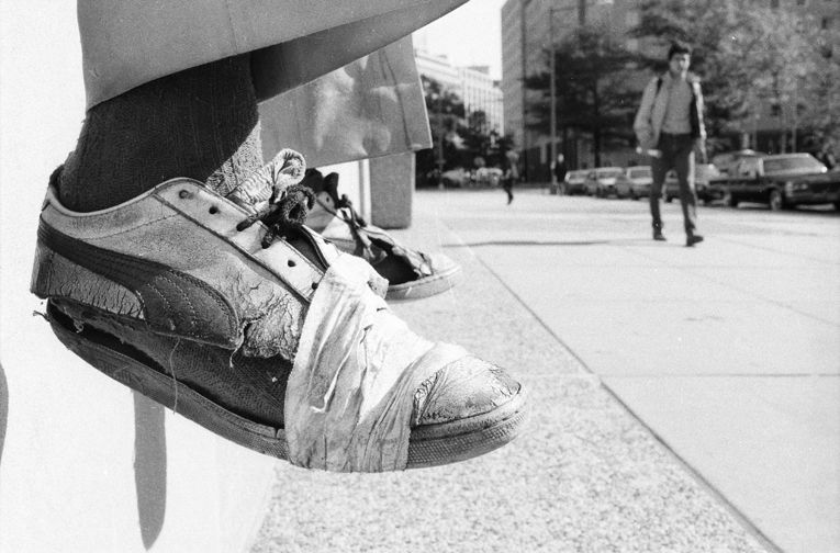 homeless shoes washington d c 1986 homelessness