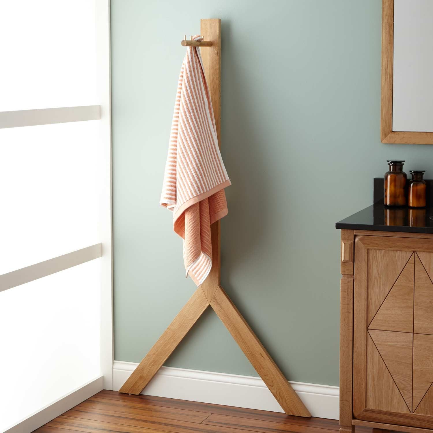 ideas storage very using wall rattan creative rack metal for or furniture box old hooks mounted small bathroom towel