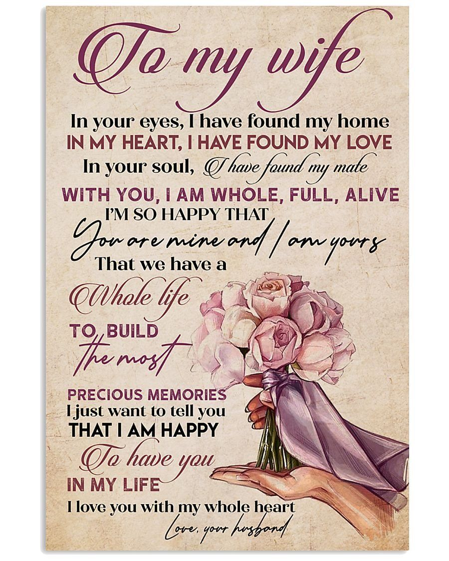 Perfect Gifts For Wife To My Wife Poster in 2020 Wife