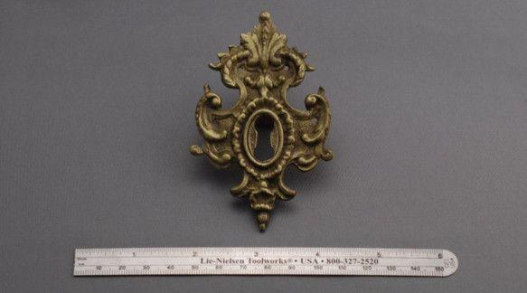 フランスアンティークレジャンス鍵穴装飾プレート ブロンズ 装飾 小物