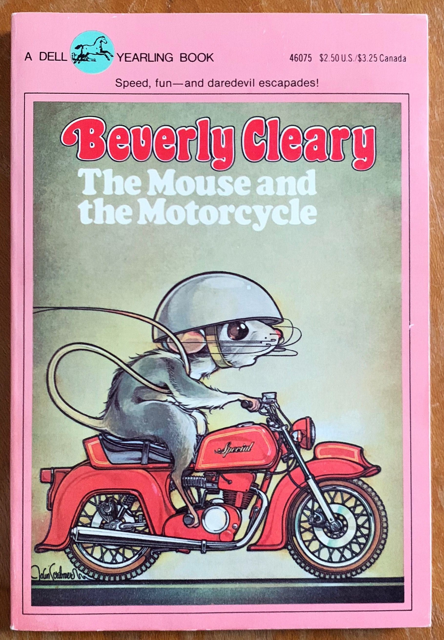 Vintage S Childrens Book The Mouse And The Motorcycle