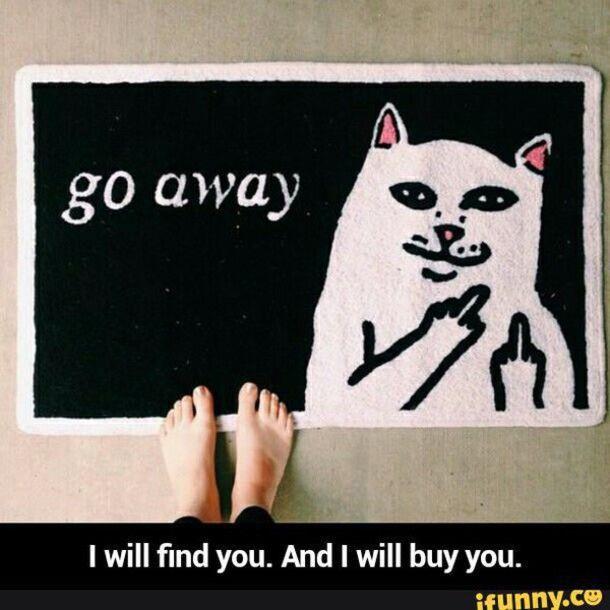 Home accessory: cats, cute, go away, doormat - Wheretoget