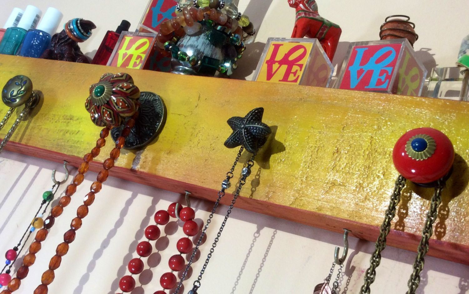 Made to order -Necklace hanger /wall rack /jewelry holder hanging ...