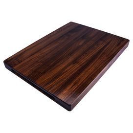 "Hardwood cutting board with a dark walnut finish and natural beeswax coating. Handmade in the USA.   Product: Cutting boardConstruction Material: WalnutColor: Dark walnutFeatures:  Handmade in the USA from American hardwoodsCoated with an all natural beeswax finishFully reversible Dimensions: 1.5"" H x 20"" W x 15"" DCleaning and Care: Hand wash with warm, soapy water and dry thoroughly"