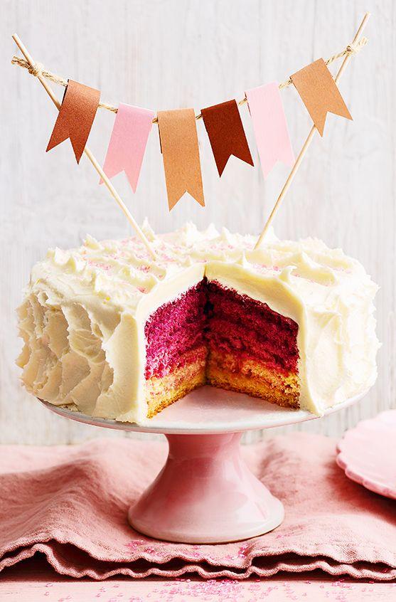 Backtrend Ombre Cake Wie Der Name Verrat Bringt Der Kuchen Mit