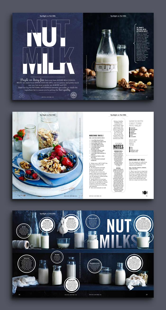 Nut Milk #editoriallayout