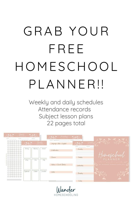 Free Homeschool Planner in 2020 Homeschool planner