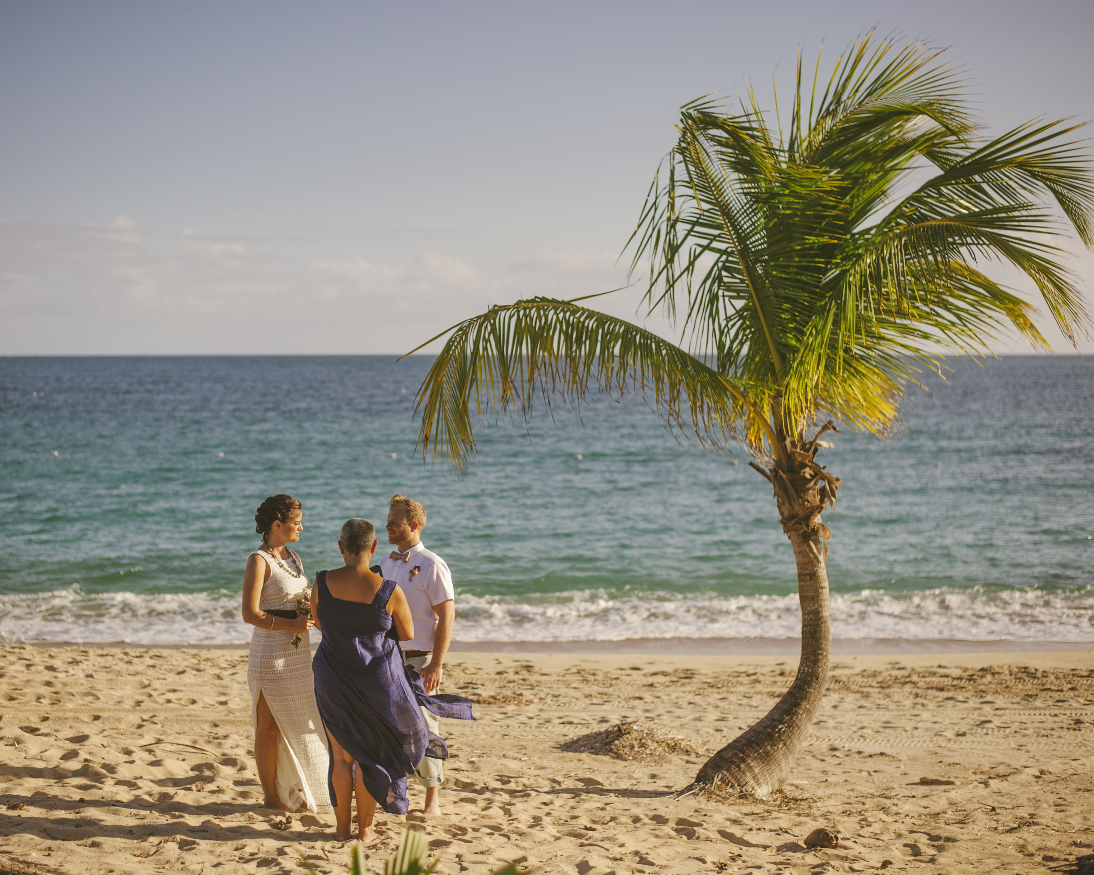 Ellie and Ian's intimate elopement on Sun Bay Vieques