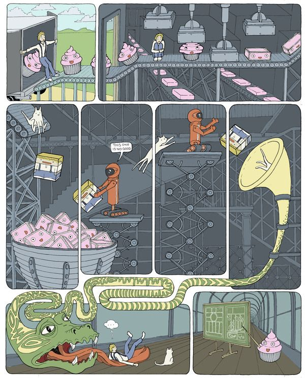 Illustration Portfolio by Laura Guerin, via Behance-- continuous/seperate frames