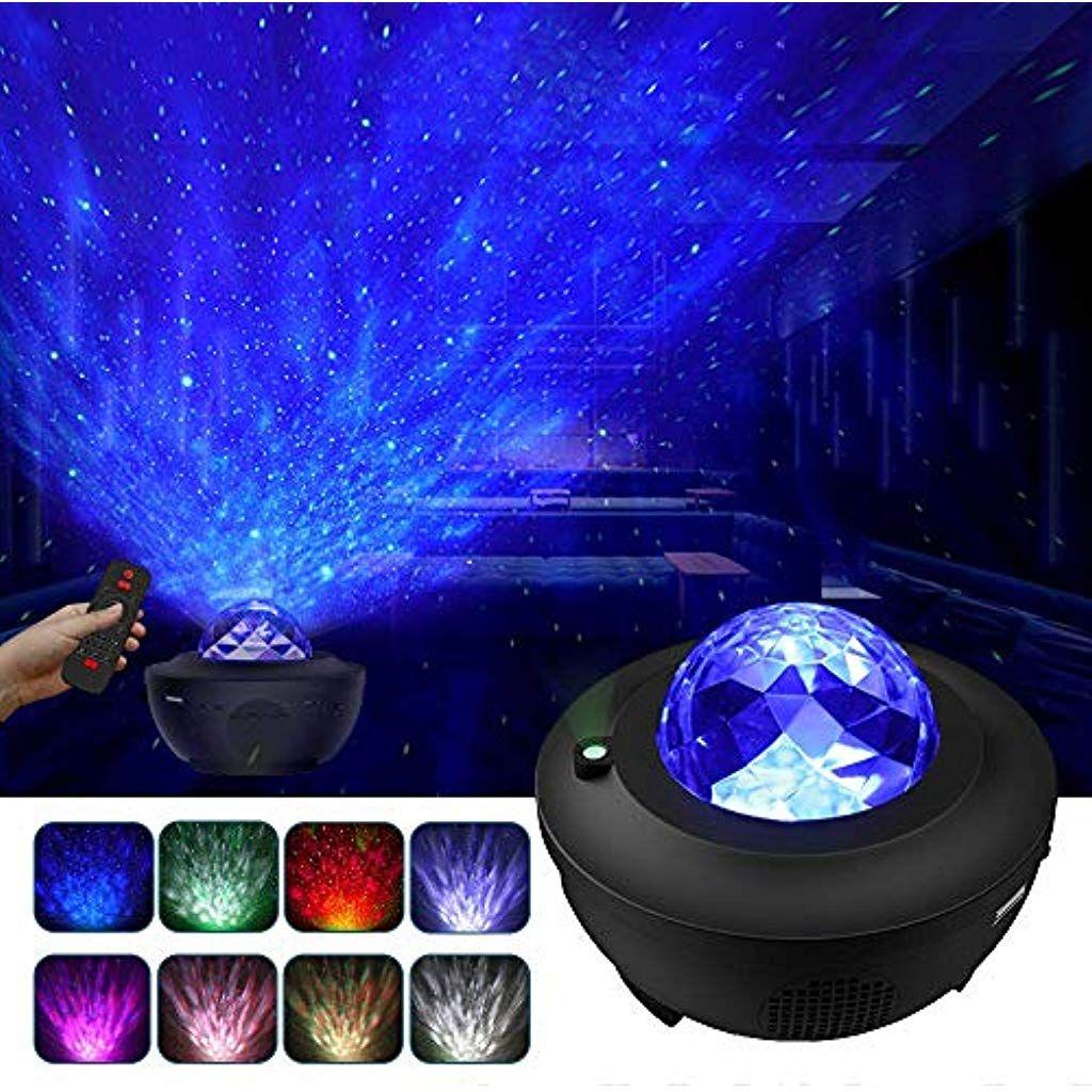 Update Sternenhimmel Led Projektor Sternenhimmel Lampe Mit Fernbedienung Starry Stern Mond Wasserwellen Wellenef In 2020 Sternenhimmel Lampe Nachtleuchte Sternenhimmel