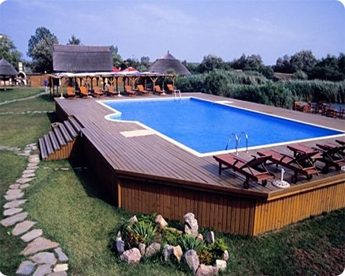 15 Awesome Above Ground Pool Deck Designs In Ground Pools Backyard Pool Backyard
