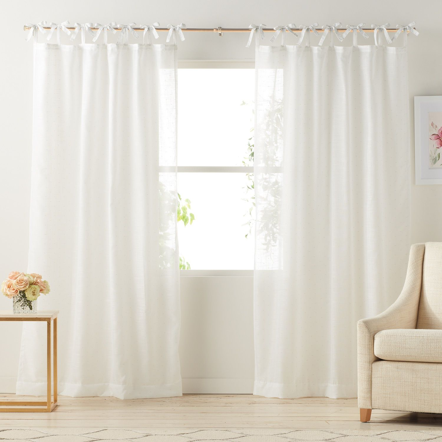 lc lauren conrad gabby sheer curtains | available at kohl