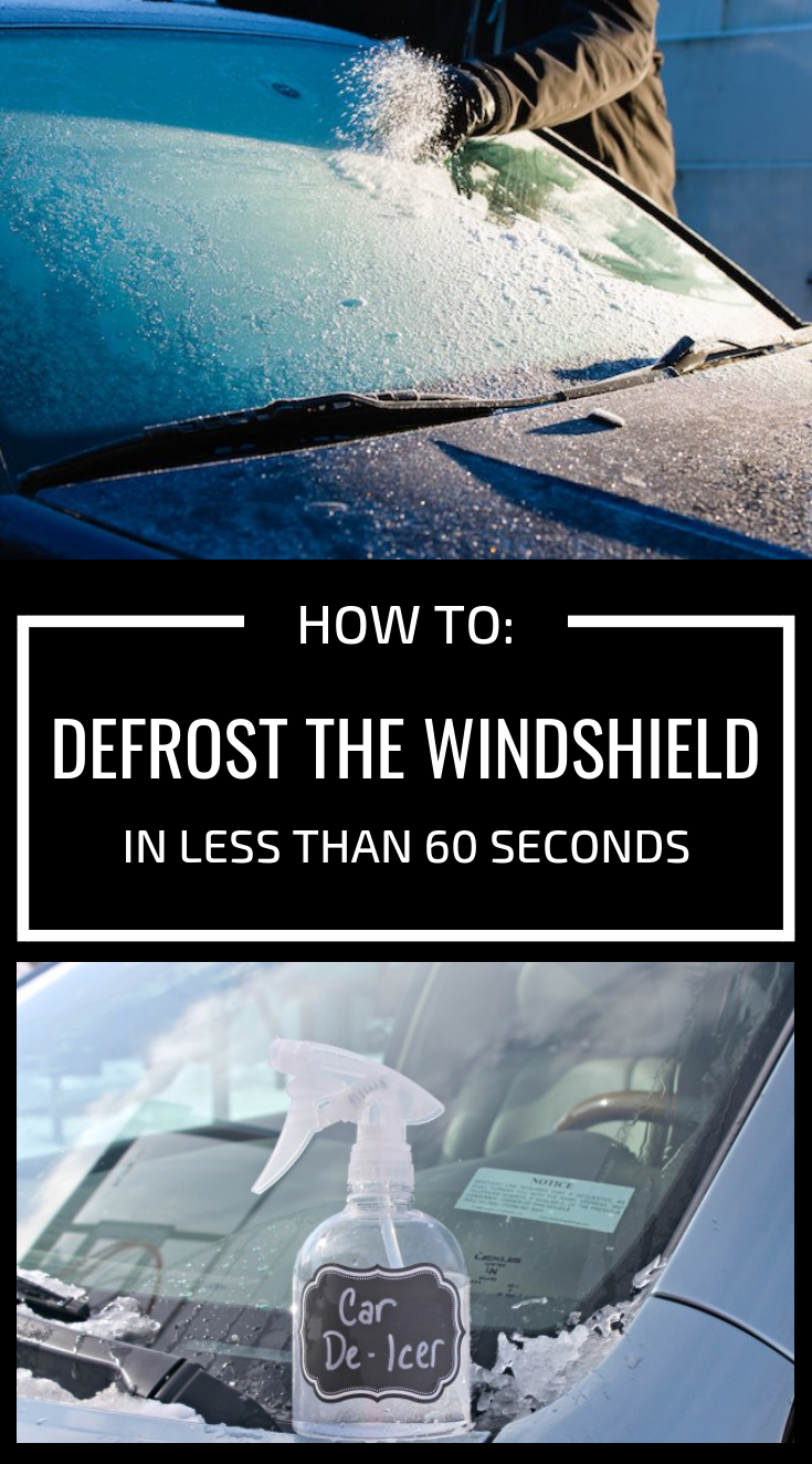 How To Defrost The Windshield In Less Than 60 Seconds Windshield Clean Windshield Clean Car Windshield