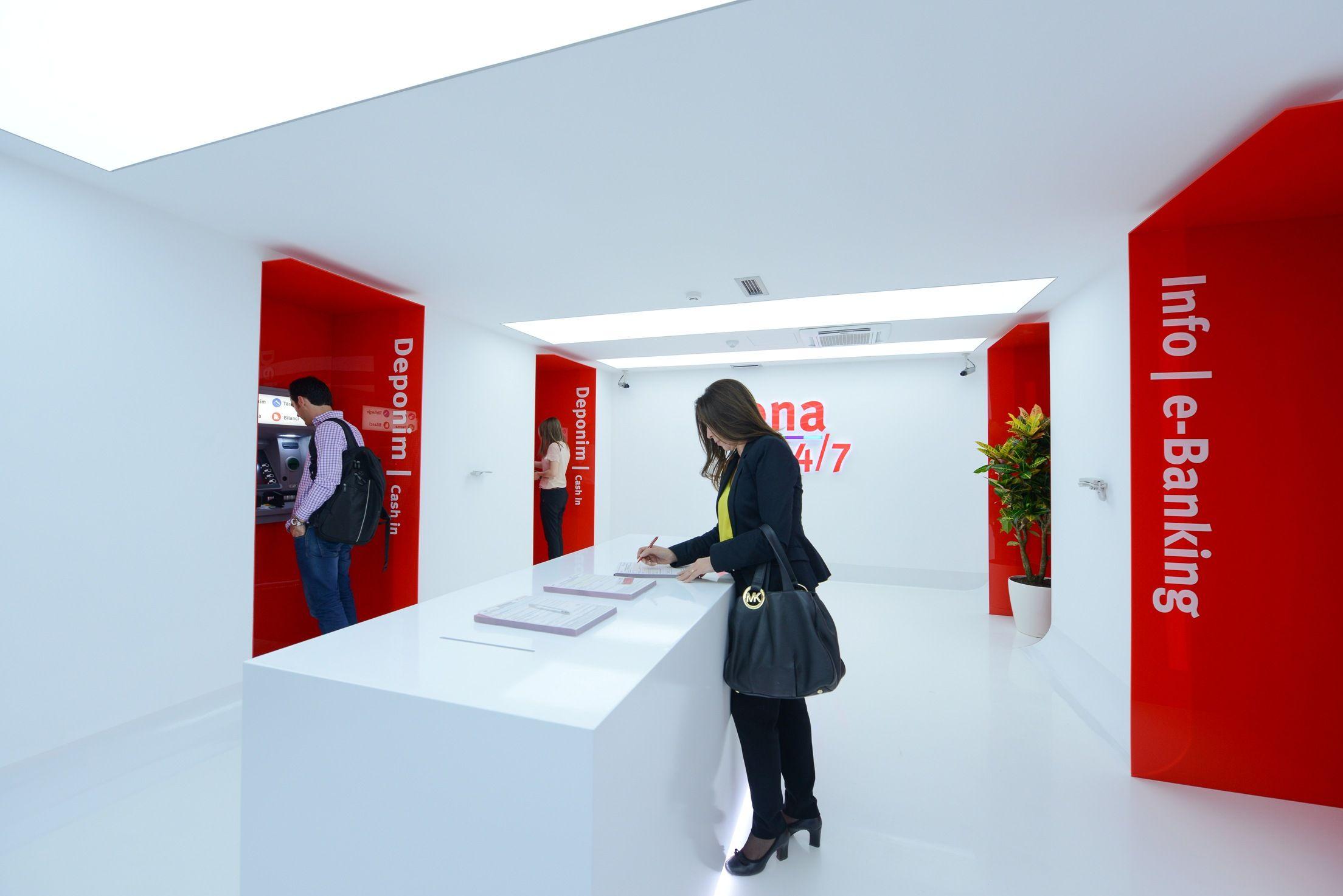 Procredit Bank Office Design By Madengroup Com Bank Interior Design Banks Office Office Design