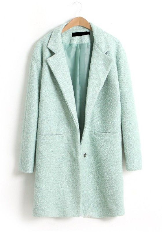 shop for genuine low cost discount sale pale blue coat   Style File {Fall + Winter} in 2019   Green ...