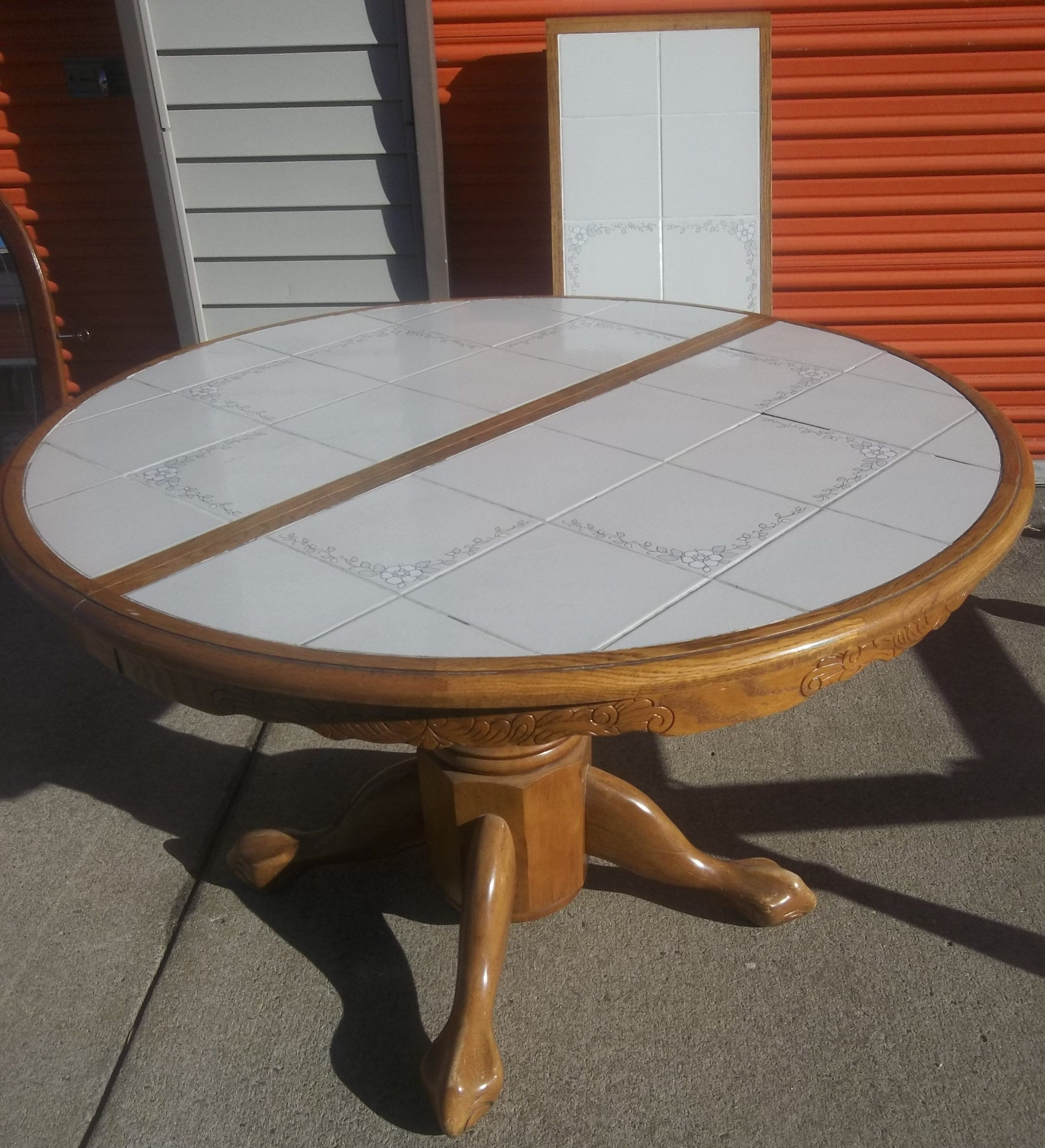 Kitchen Table With Ceramic Tile Top Top Kitchen Table Kitchen Table Makeover Kitchen Table Settings