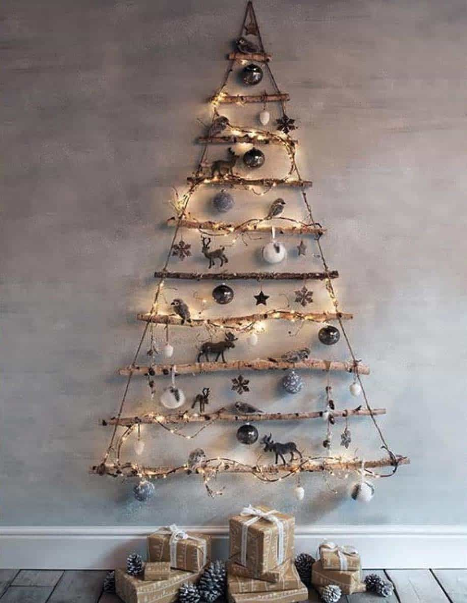 30 Amazingly Brilliant Diy Christmas Tree Alternatives Alternative Christmas Tree Cool Christmas Trees Modern Christmas Tree