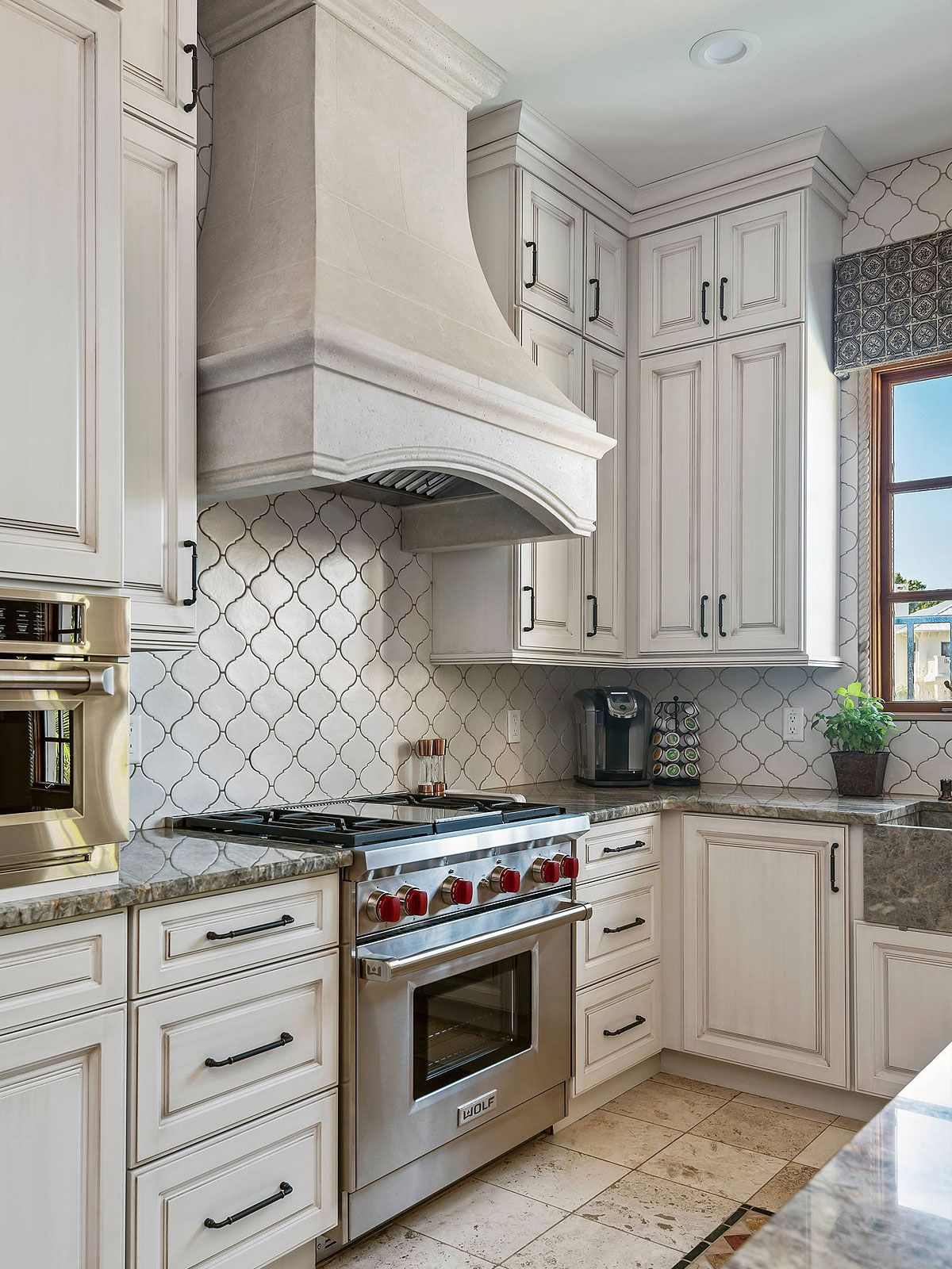 White Glazed Porcelain Arabesque Backsplash Tile Backsplash Com
