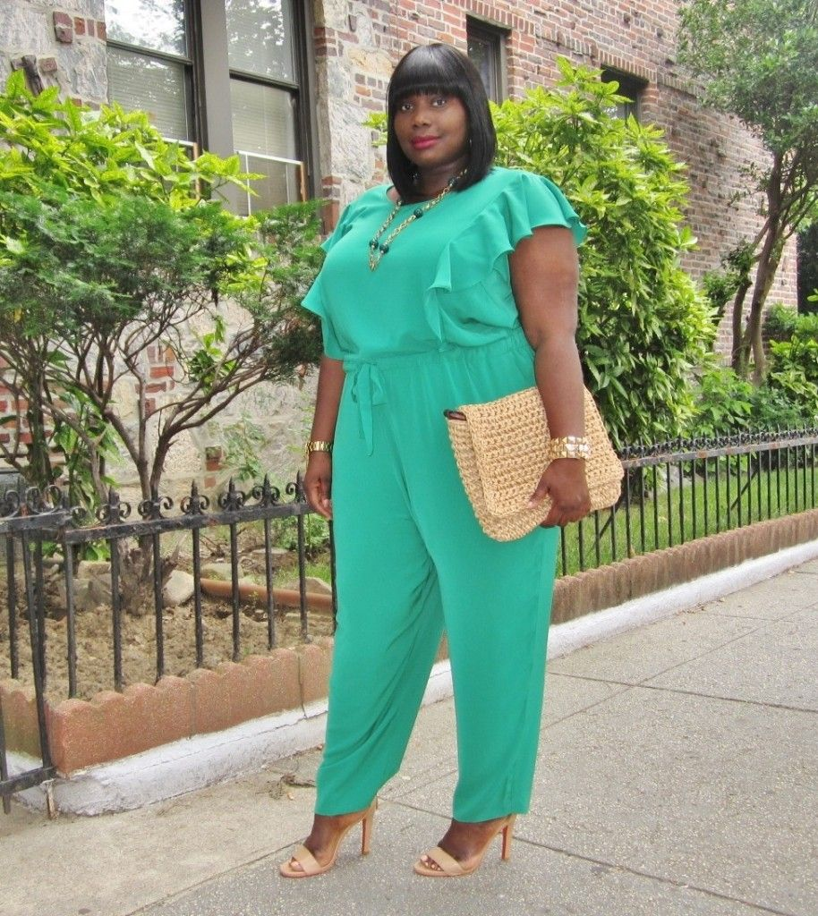 711c0392c9b9 STYLE JOURNEY  DKNY PLUS SIZE RUFFLED JUMPSUIT