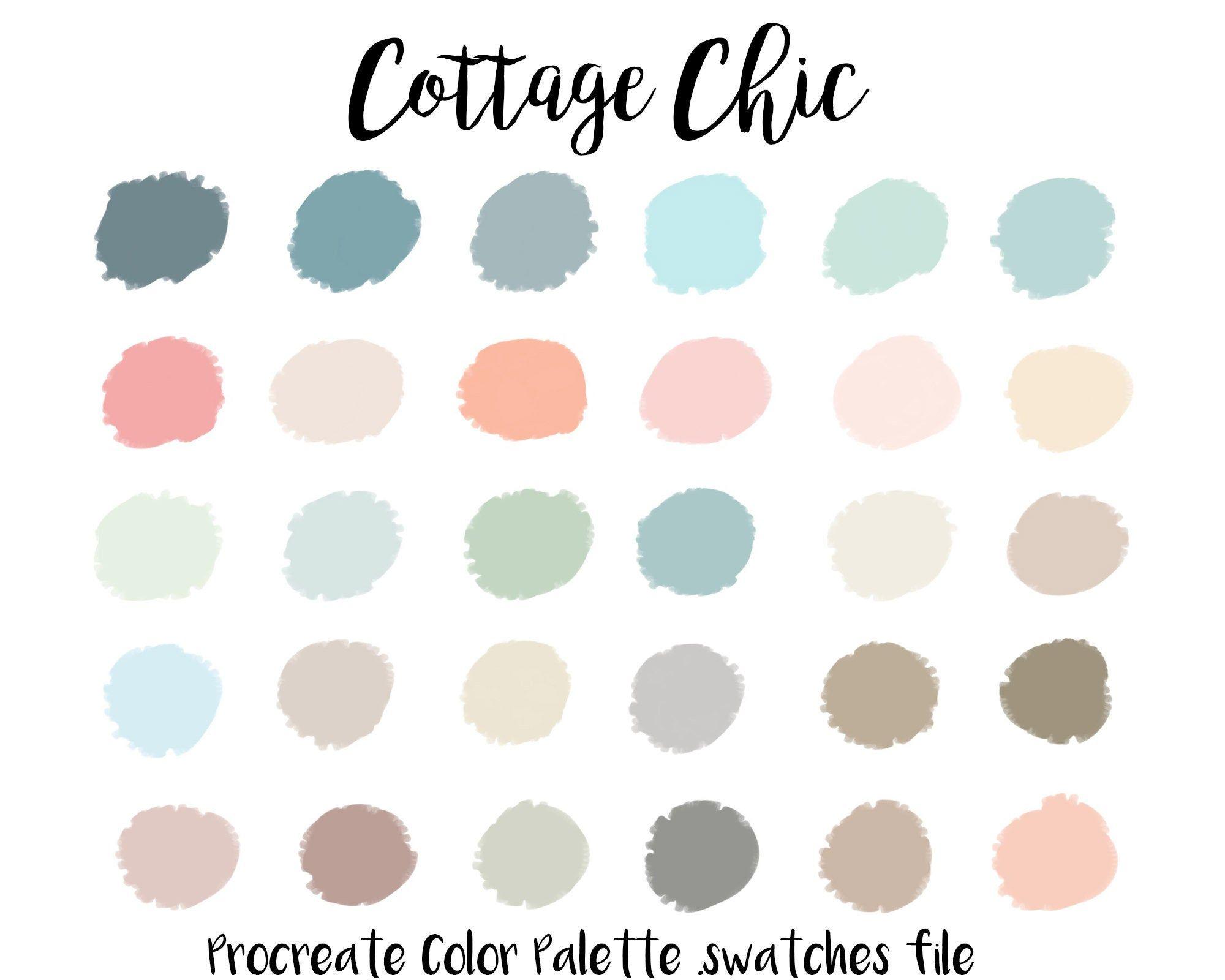 Procreate Color Palette Cottage Chic Procreate Swatches Etsy Color Palette Challenge Color Palette Pastel Colour Palette