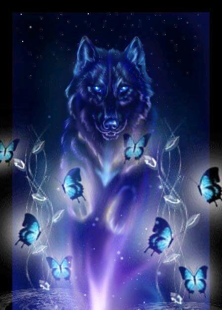 Pin By Nikola Urbankova On Wolf 2019 Wolf Spirit Animal Mystical Animals Mystical Wolf Art