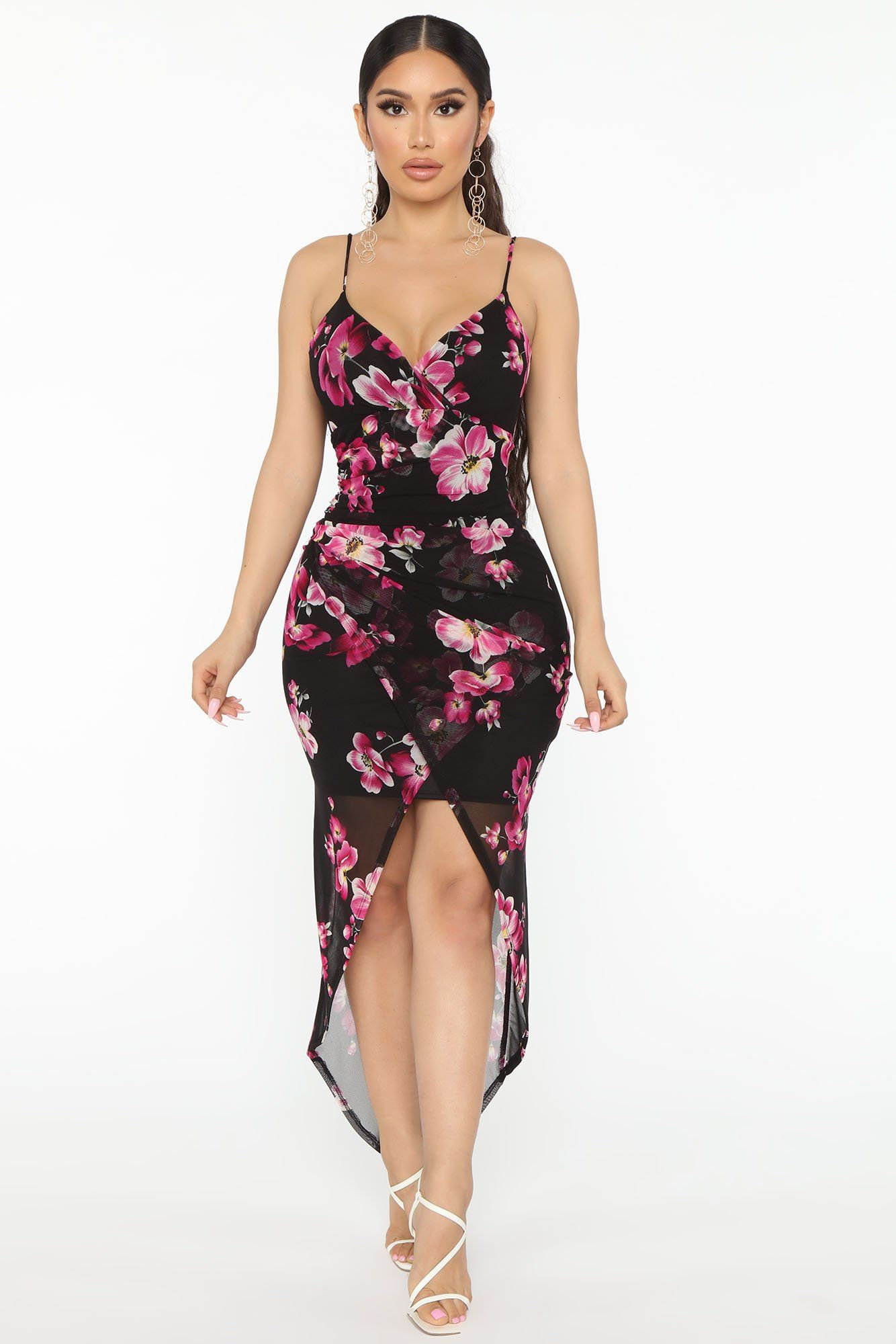 Feel Me Floral Mesh Maxi Dress in 2020
