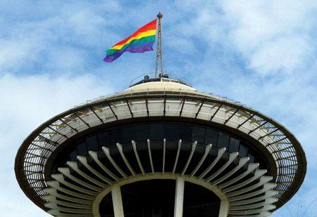 Space Needle -- Gay Pride