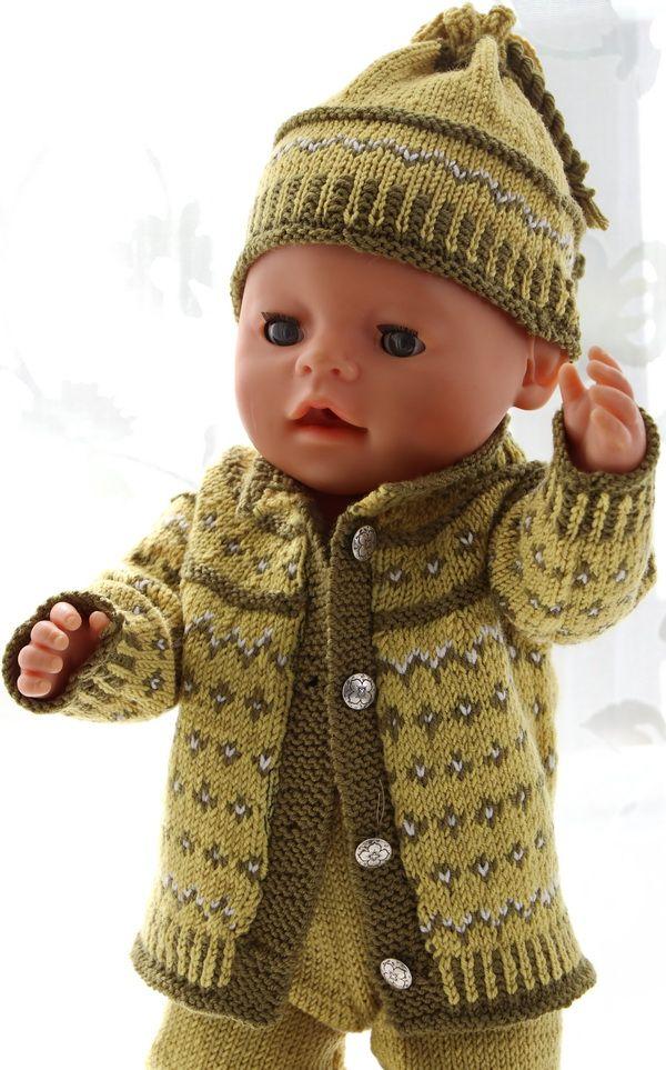 Mønster til Baby born dukkeklær   Dukkuklæðir   Pinterest   Baby ...