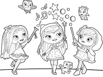 baby hazel coloring pages - photo#6