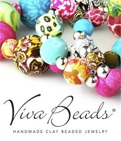 bd4e8e05307b Viva Beads are a unique clay bead jewelry line made using a technique  called caning. This 100% handmade process starts by layering colors and  shapes of ...