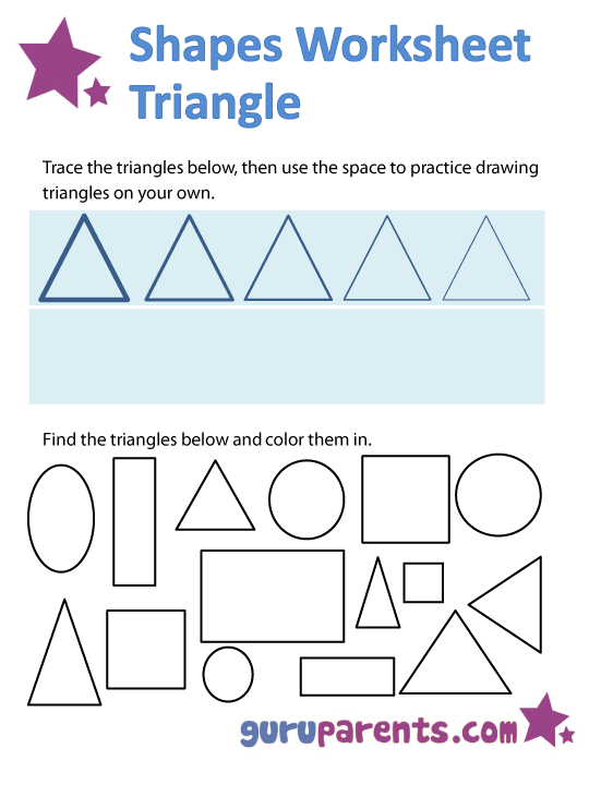 triangle shapes worksheet pre k shape worksheets crafts pinterest shapes worksheets. Black Bedroom Furniture Sets. Home Design Ideas