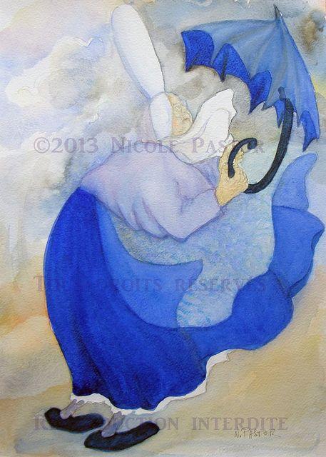 Aquarelle Nicole Pastor Bigoudenes Tempete Aquarelle Peinture