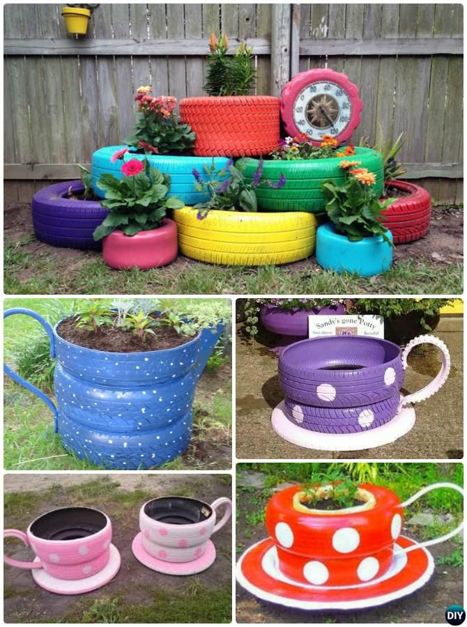 DIY Old Tire Planter Instructions-20 DIY Upcycled ...