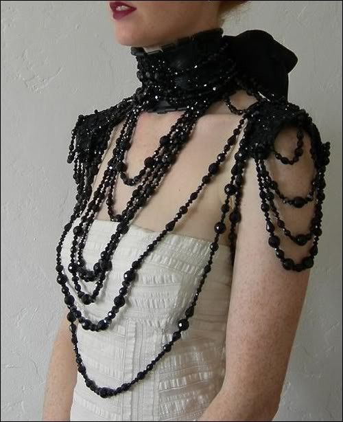 black collar and shoulder piece by nicola.metzger