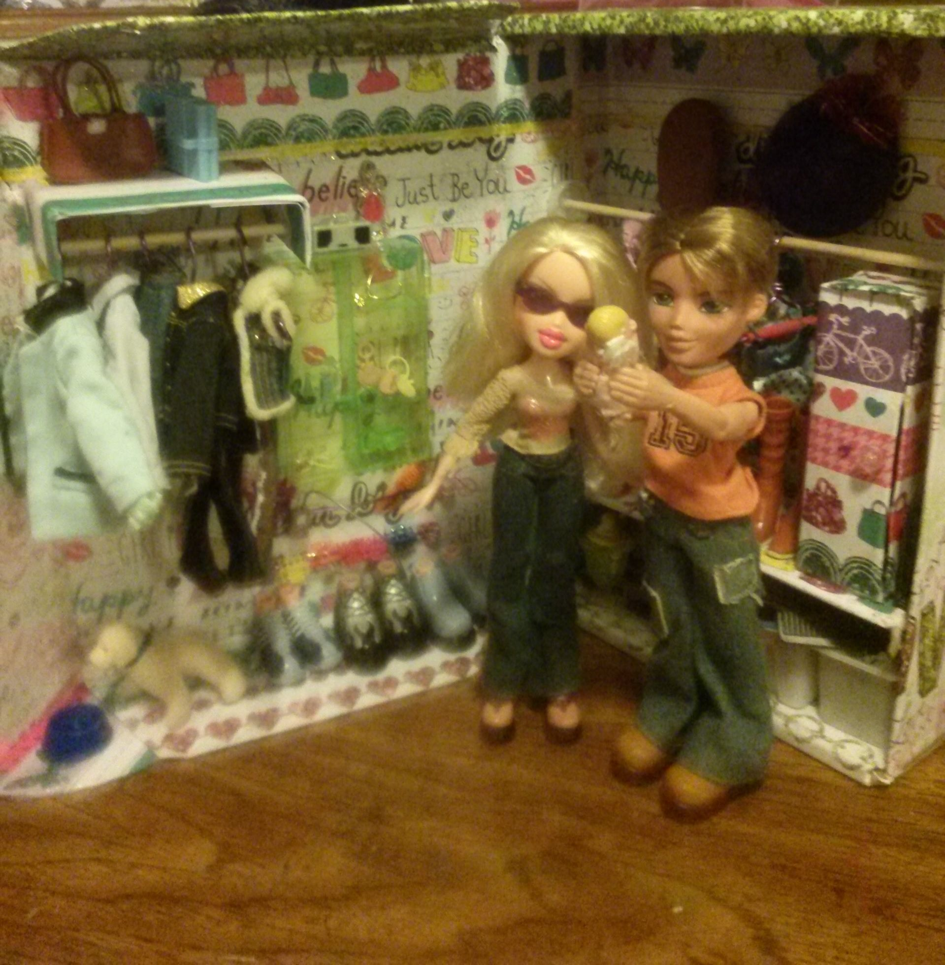 recycled closet wit bratz FEmale, male, baby & dog