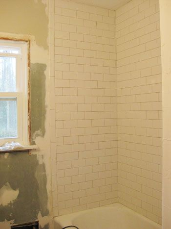 How To Install Subway Tile In A Shower Marble Floor Tiles With