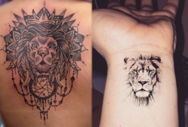 Resultado De Imagen Para Tatuajes De Leones Pequenos Para Mujer