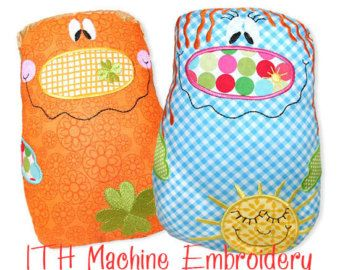 Happy Knudies ITH in the hoop Machine Embroidery Files