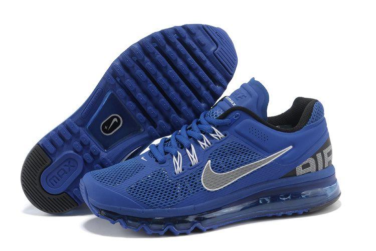 nike air max 2013 hommes chaussures bleu blanc