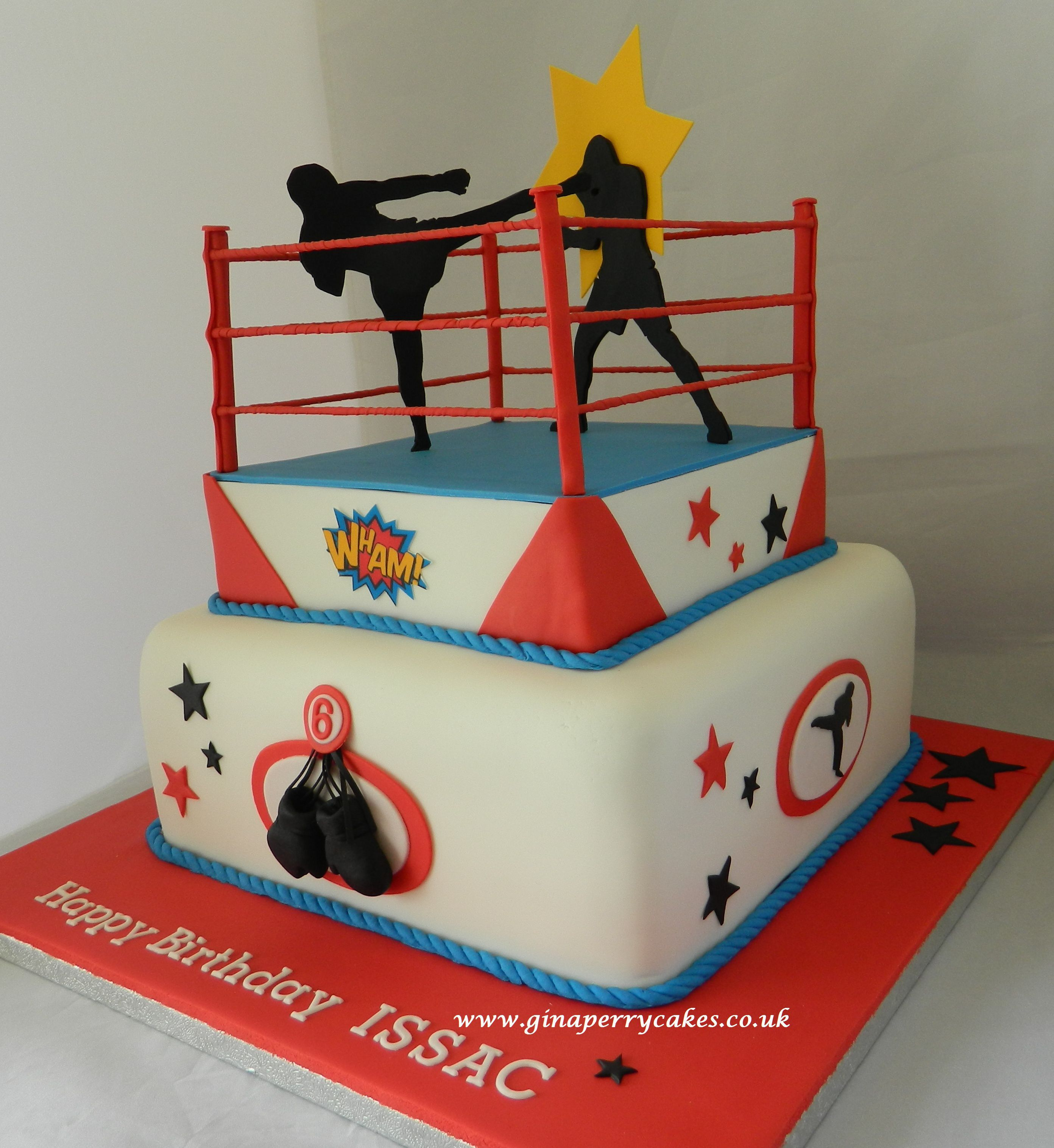 Cake For A 6 Year Old Kick Boxing Theme Themed