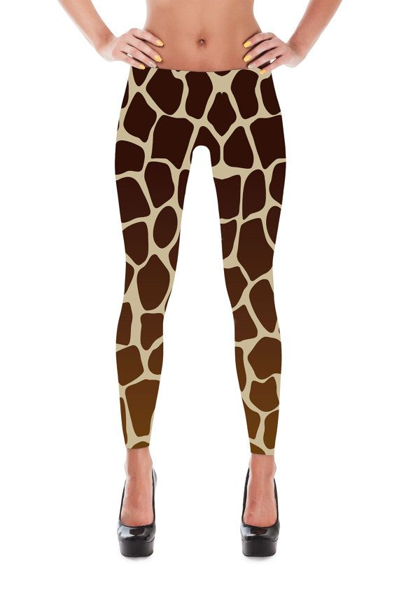ea2cbbc89e0 Giraffe Leggings - Giraffe Print Leggings - Giraffe Costume - Christmas  Gift - Giraffe Dress - Womens Leggings - Giraffe Tights