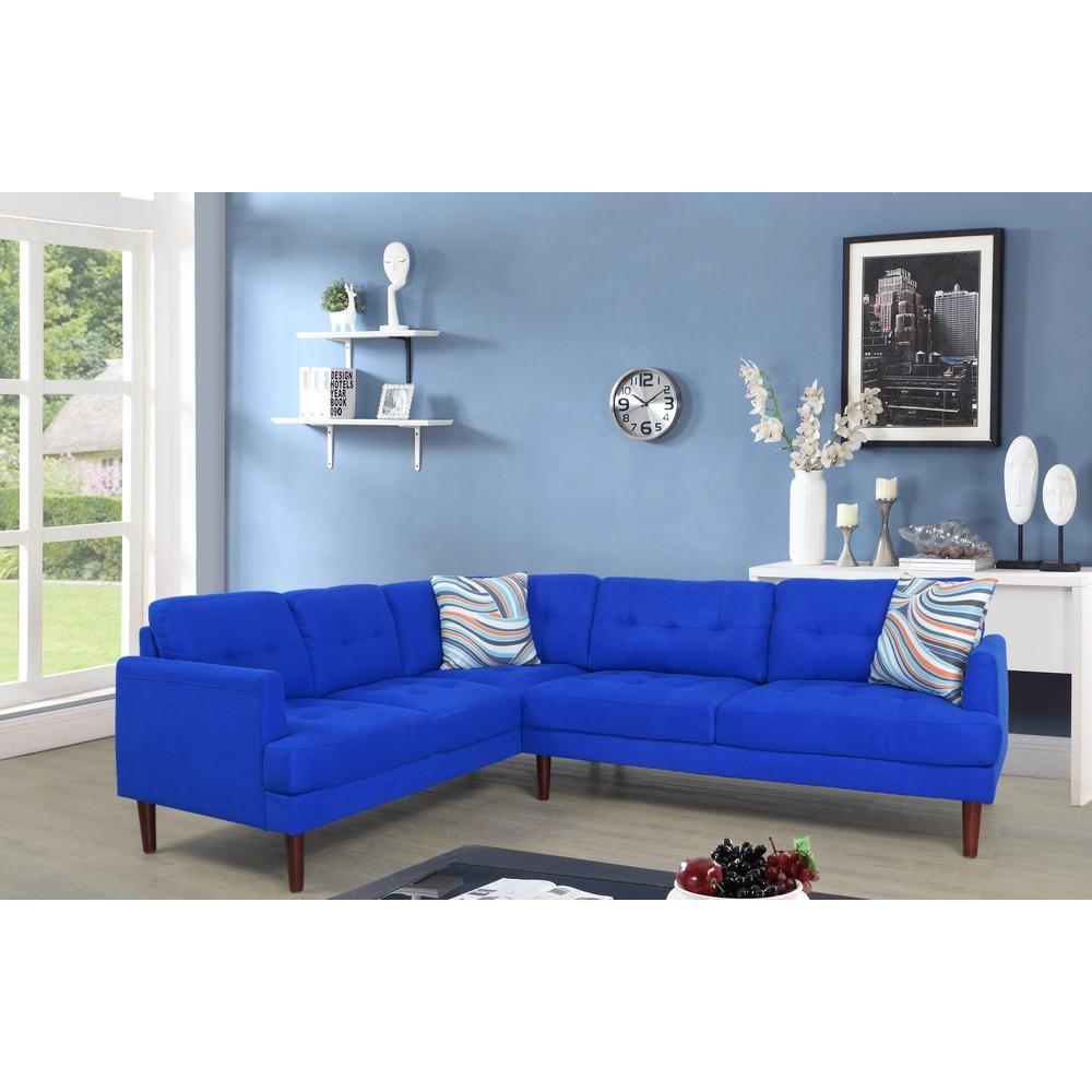 Best Star Home Living Blue Tufted Left Sectional Sofa Set 2 640 x 480