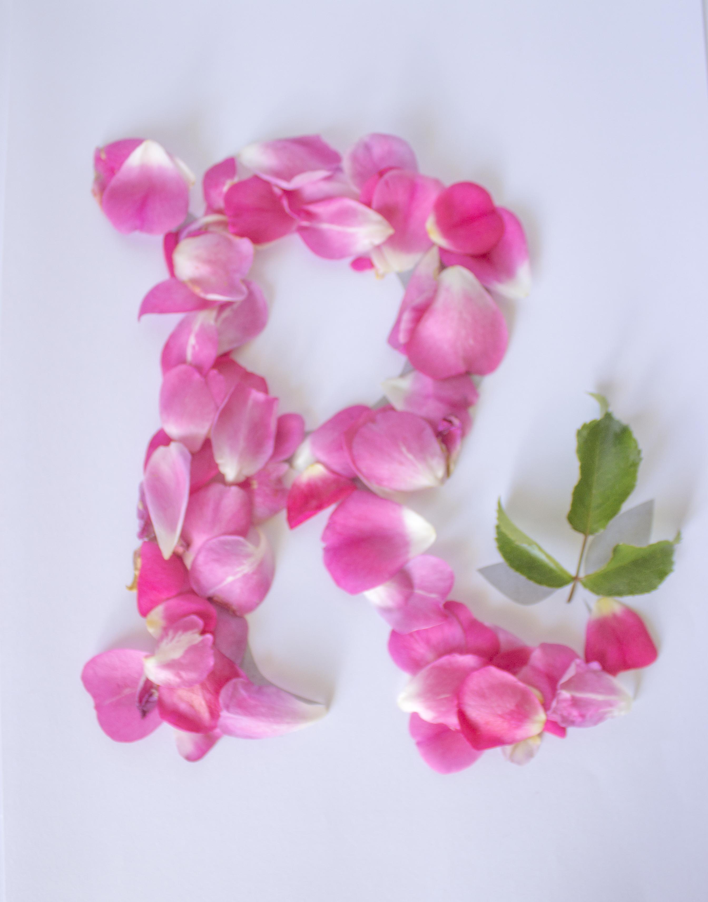 Pretty Floral Letter R Floral Letters Flower Letters Flower Words