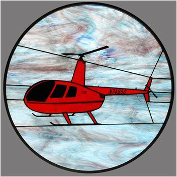 Robinson R 44 Stained Glass Cars Trains Amp Planes